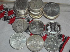 World - 49 Silver Coins (969 gr.)