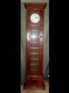 A Chestnut Wood Grandfather Clock/Cabinet with Concealed Safe - Paul Garnier - ca. 1900