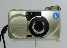 Olympus MJU Zoom 140 Gold with original bag and carrying strap And a fresh CR123A battery.