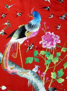 Silk embroidery - China - late 20th century