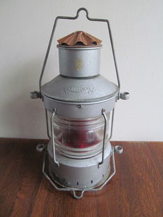 Old ship's lamp 'Ankerlicht' with oil lamp