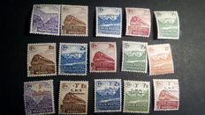 France 1941/1945 – Selection of stamps for postal colissimo - 50 values in Yvert no. 174 and 229B
