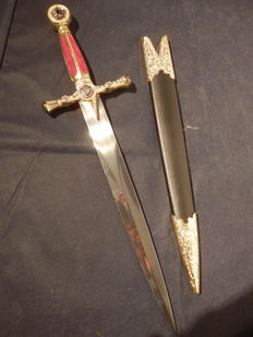 A Beautiful and decorative sword from the Freemasons