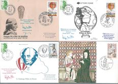 France 1960/1990 – Collection of 400 Postcards 1-day delivery and 100 Enveloppes 1-day delivery.