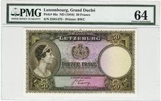 Luxembourg - 50 francs 1944 - Pick 46a