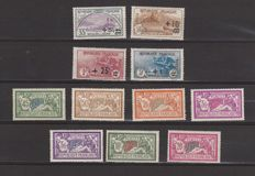France 1900/1926 - Selection of Merson and orphans - Yvert n° 120, 143, 145, 166/169, 206/208 and 240