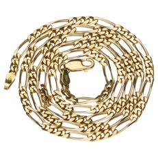 14 kt yellow gold Figaro link necklace - 50.4 cm