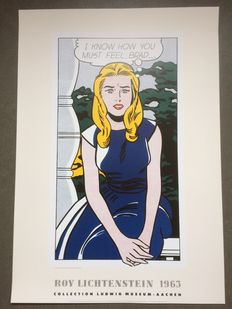 Roy Lichtenstein (after) - I know how you must feel, Brad (1963)