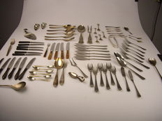 Ca. 100 cutlery pieces