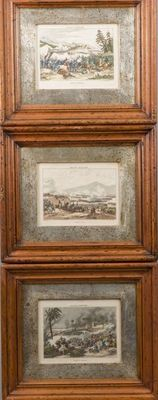 France Military - three engravings with battles - Ca. 1835, France