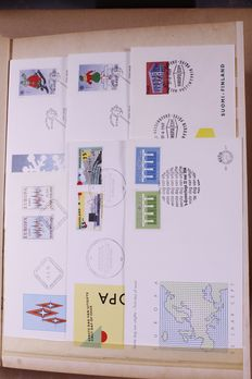 United Europe 1957/1973 - Batch of 792 FDCs in 3 stock books