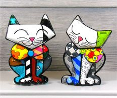 Romero Britto - Cats Sam & Happy