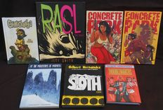 Concrete Park 1 & 2 + Rasl + Chimichanga + At the mountains of madness + Sloth + The Troublemakers - 5x hc + 2x sc - 1e druk - (2006/2015)