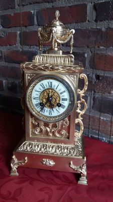 Bronze French table clock - Leclerq  19th century