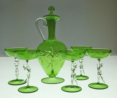 Bimini - Nude Dancer - Decanter & 5 Glasses