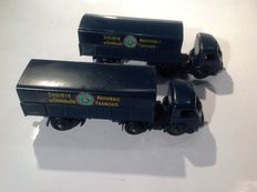 Dinky Toys-France - Scale 1/48 - Lot of 2 x Tractor Panhard and trailer SNCF No.575