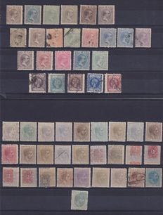 Spanish colonies Cuba, Puerto Rico, Antilles, Guinea – 206 new and cancelled stamps