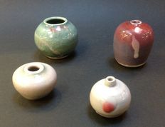 Han Boerrigter - lot with 4 miniature vases