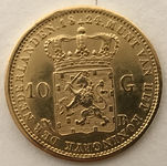 Regardez Pays-Bas - 10 florins William Ier de 1824 B - or