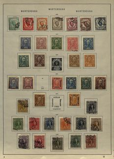 Montenegro 1874/1913 – collection on old album sheets