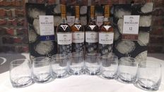 Macallan 12 New Year 2017 700ml Limited Edition Gift Set x 4 with 8 Glasses