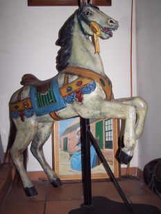 Antique American carousel horse - late 1800