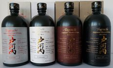 4 Bottles - Togouchi Collection Japanese whisky - Togouchi Premium + Togouchi Kiwami + Togouchi 12 Year Old + Togouchi 18 Year Old