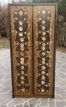 Two door wardrobe made of painted iron