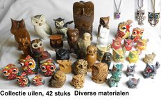 Collection of owls, 42 pieces.