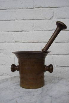 Heavy bronze mortar-Holland-late 18th/early 19th century