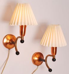 Designer and manufacturer unknown - wall lamps (2 x).