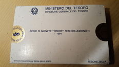 """Republic of Italy - 1991 Proof divisional series """"Vivaldi"""" (including silver)"""