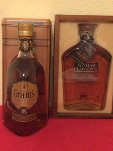 2 bottles - William Lawson's 18 years old Founder's Reserve & Grant´s 18 years old Rare Old Scotch Whisky