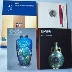 Lot with 4 books about Japanese cloisonné - 1987/2011.