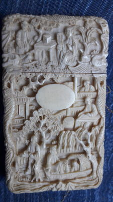 Business card holder, Canton carved ivory - China - End XIX century