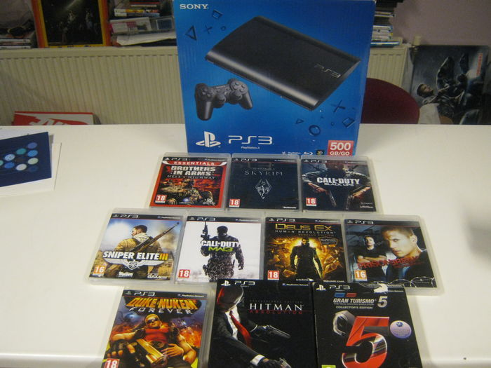 Sony Playstation 3 500gb Complete In Box With 10 Top Games
