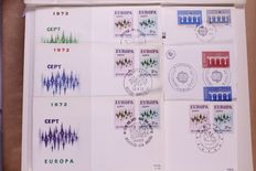 United Europa Stamps 1958/1973 – Batch of 576 First Day Covers CEPT in 2 stock books