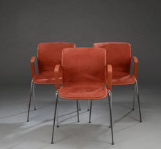 "Alfred Homann for Fritz Hansen – 3 chairs – model ""Ensemble"""