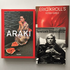 Photography; Lot with 3 erotic picture galleries of Araki, Kroll and Newton-1994/2014