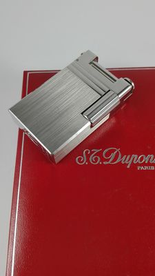 S.T. Lighter Dupont Brushed Palladium