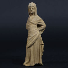 Hellenistic terracotta figure of a woman - 151 mm