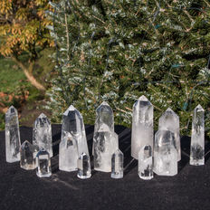 Rock crystal points - 4 to 10 cm - 1,121kg (15)