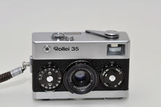Rollei 35, chrome with S - Xenar 3.5 - 40mm lens (Made in Singapore,  1972)