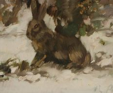 Unknown (20th century) - Rabbit in the winter