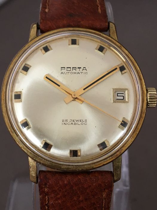 porta automatic date men 39 s wristwatch around the 1960s catawiki. Black Bedroom Furniture Sets. Home Design Ideas