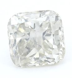 1,00 ct. Diamante naturale brillante modificato a cuscino - N - I1