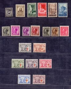 Belgium 1934 - Complete year collection - OBP 384 up to and including 403