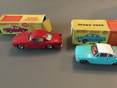 Dinky Toys-FR/GB - Scale 1/43 - Lot with Alfa Romeo 1900 'Super Sprint' No.185 and Ford Capri No.143