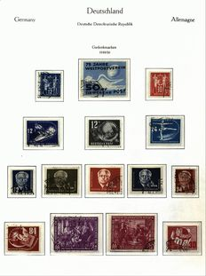 East Germany 1949/1960 - collection with Marx blocks Michel 8-9 A/B on album pages in Kabe spring-back binder