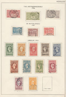 The Netherlands 1906/1923 – Small collection on Davo sheets